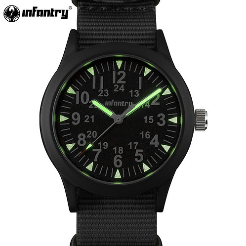 INFANTRY Military Watch Men Glow in Dark Mens Watches Top Brand Luxury