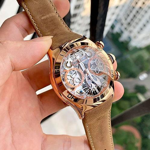 Reef Tiger/Rt Sport Watch for Men Skeleton Luminous Watch Year Month RGA703
