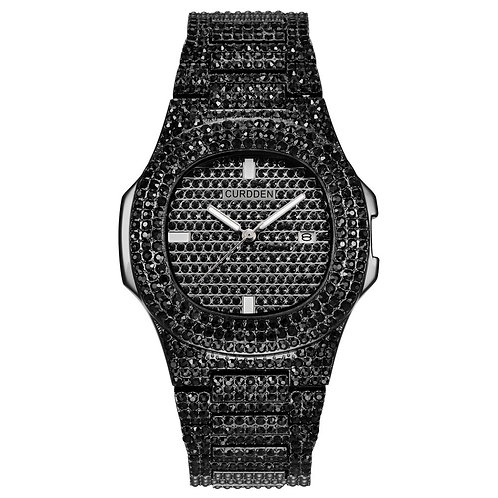 Iced Out Watches Women Hip Hop Bling Diamond Mens Business Watch Stainless Steel