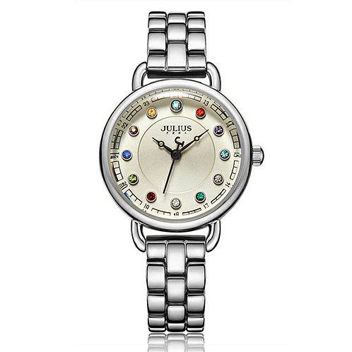 New Women's Watch Japan Quartz Woman Hours Fine Fashion 12 Colors Crystal