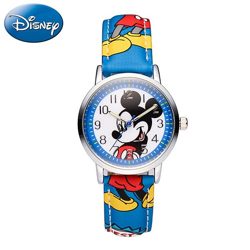 Genuine Mickey Mouse Children Lovely Cartoon Watch Boys Girls Fashion Casual