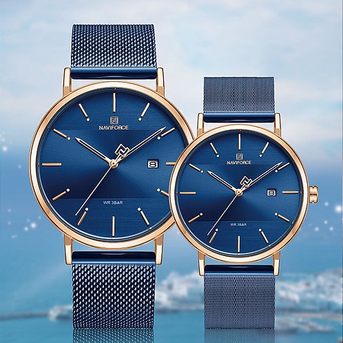 Newest Lover's Watches NAVIFORCE Quartz Simple Clock Men Women
