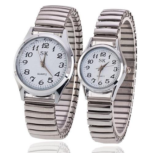 Men Women Fashion Wristwatches Couple Flexible Stretch Band Quartz Watches