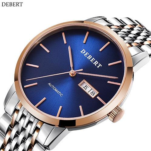 2018 DEBERT Mechanical Watch Men Brand Luxury Men's Automatic Watches Sapphire