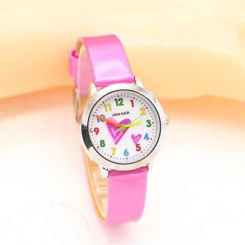 New Fashion Heart Creative Watches Children Student Kids Girls Watch Casual