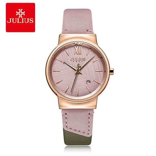 New Cute Contrast Color Julius Women's Watch Japan Mov't Hours Fashion