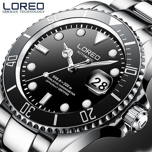 LOREO Men's Business Automatic Mechanical Watch Men Wrist Watches Wristwatch