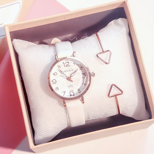 Cartoon Number Scale Women Fashion Watches Cutting Surface Design Luxury Female