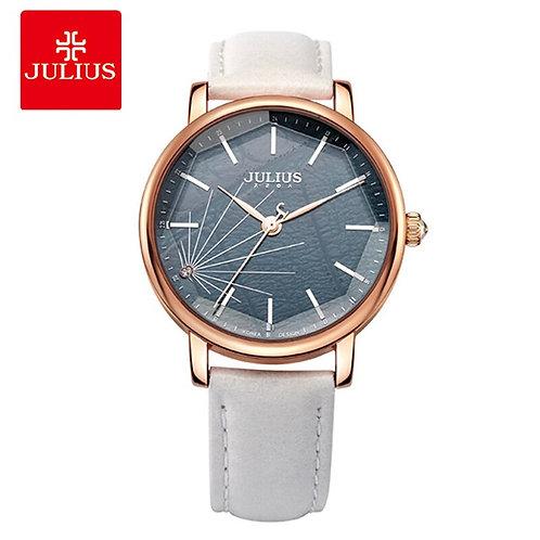 Julius Women Quartz Leather Bracelet Watches Ladies Large Dial Spider-Web