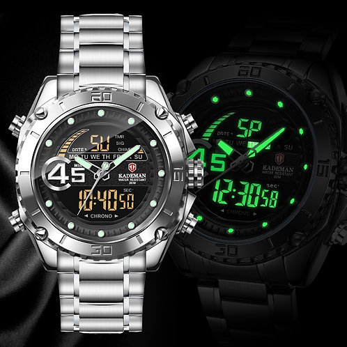 KADEMAN Men Watch Luxury Brand Military Luminous LED Digital Sport Watches Quarz