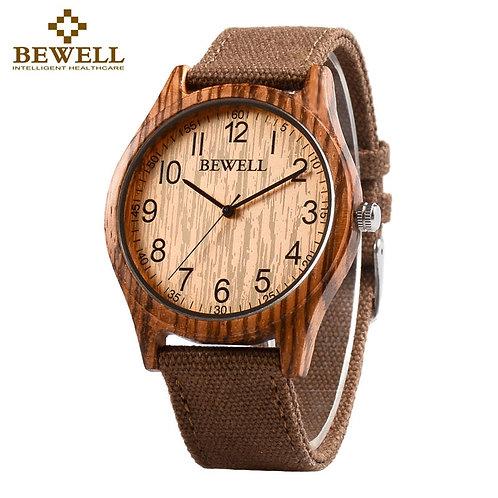 BEWELL Unisex Zebra Bamboo Wood Watch Mens Watches Top Brand Luxury Women Watch