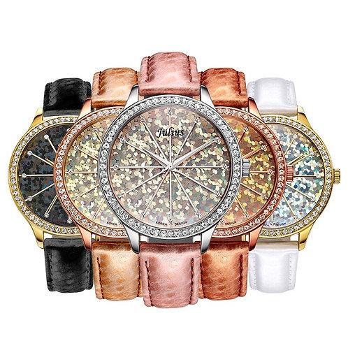 Bling Julius Lady Women's Watch Big Fashion Hours Dress Bracelet Shining