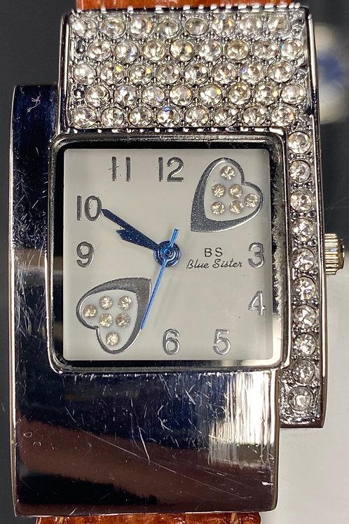 Ladies Beautiful Sweetheart Blue Sister Quartz Wristwatch
