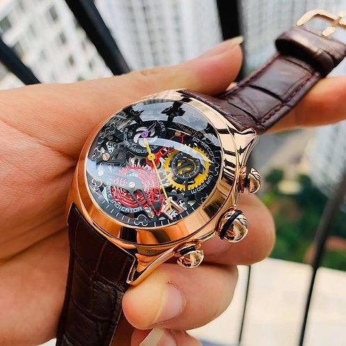 Reloj Mujer Reef Tiger Ladies Fashion Watches Skeleton Swiss Ronda RGA7181
