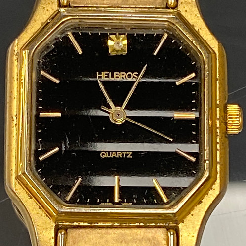 Men's Vintage Diamond Helbros Quartz Wristwatch