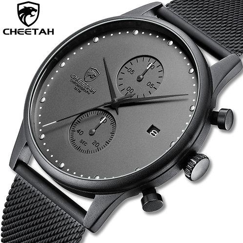 New CHEETAH Brand Men Watches Chronograph Quartz Watch Men Stainless Steel