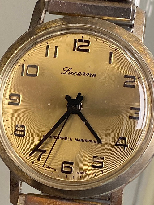Lucerne Vintage Mechanical Watch Unbreakable Mainspring Swiss Made