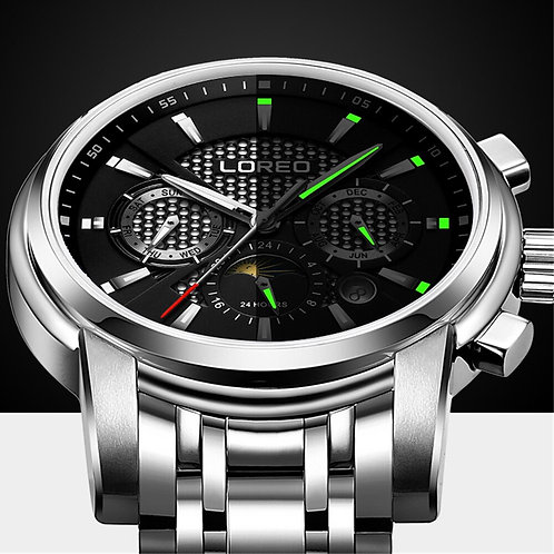 LOREO Multifunction Automatic Mechanical Mens Watch