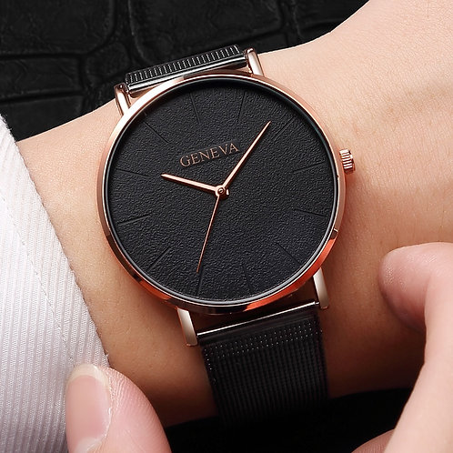 Women's Watch Rose Gold Women's Watch 2020 Women Mesh Belt Ultra-Thin Fashion
