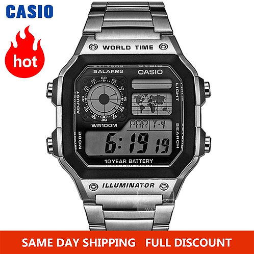 Casio Watch Explosion Watch Men Set Brand Luxury LED Military Digital Watch