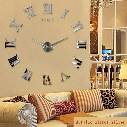 Promotion New Home Decor Large Roman Mirror Fashion  Modern Quartz Clocks