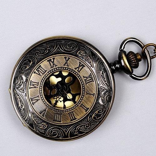 Vintage Bronze Steampunk Pocket Watch Quartz Necklace Pocket & Fob Watches Chain