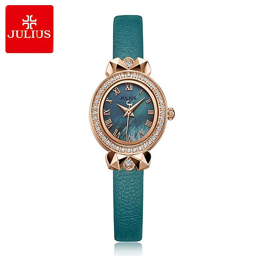 New Retro Lady Women's Watch Japan Quartz Hours Elegant Leather Bracelet