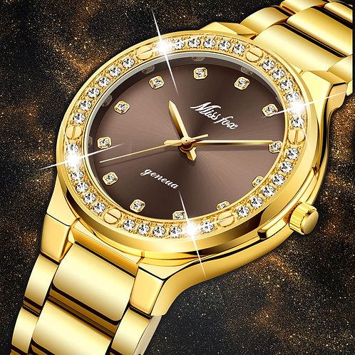 MISSFOX Elegant Woman Watch Luxury Brand Female Wristwatch Japan Movt 30M