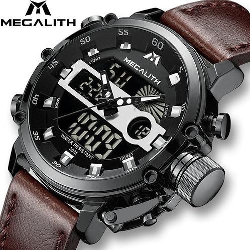 MEGALITH Men Sports Quartz Watch Men Multifunction Waterproof Luminous