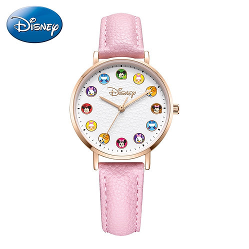 2020 New Disney Princess Cartoon Girl Quartz Watch Lady Fashion Watch Women