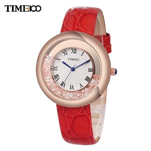 TIME100 Ladies' Reloj Mujer Analog Three-Pointer Diamond Quartz Watch