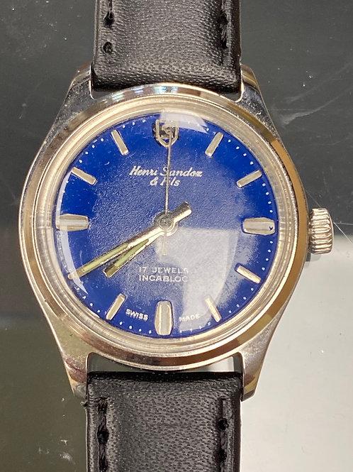 Men's Henri Sandoz & Fils 17 Jewels Wristwatch