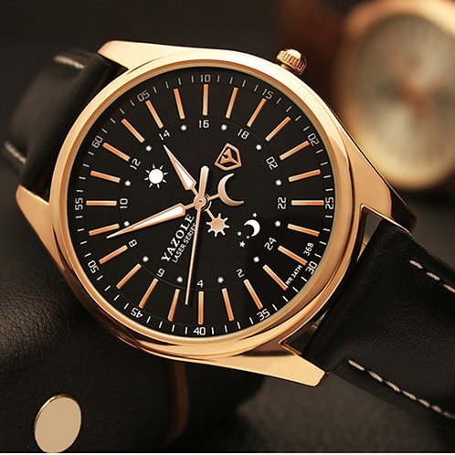 Top Brand YAZOLE Luxury Rose Gold Watch Men Watch Fashion Business Watch