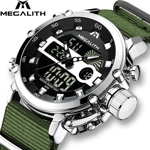 Relogio Masculino MEGALITH Sport Waterproof Watches Men Luminous Dual Display