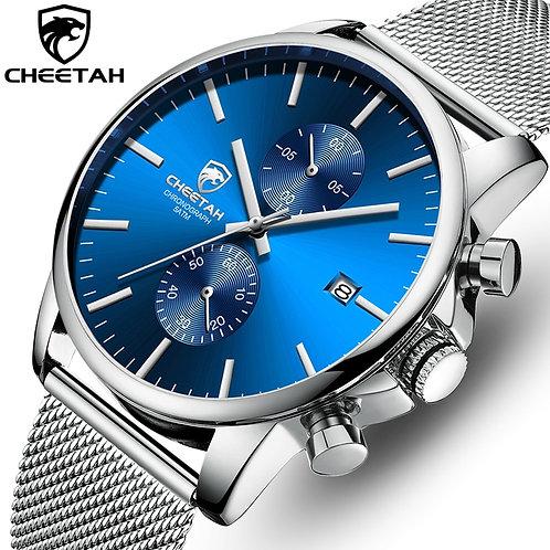Men Watch New CHEETAH Top Brand Stainless Steel Waterproof Chronograph Watch