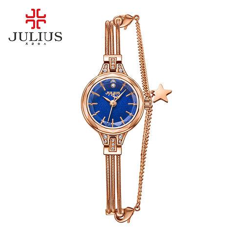 2017 New JULIUS Brand Women Watches Gold Genuine Brass Bracelet