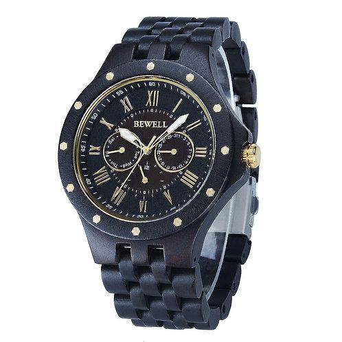BEWELL Men's Watch Natural Wood Watch Men's Top Luxury Brand Quartz Watch