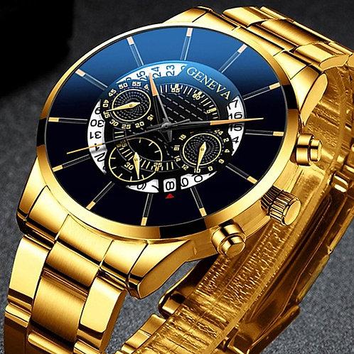 2020 Fashion Mens Watch Quartz Classic Black Wristwatch Steel Belt Luxury