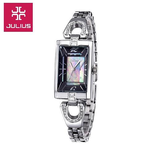 New Julius Lady Women's Watch Japan Quartz Fashion Hours Dress Shell Chain