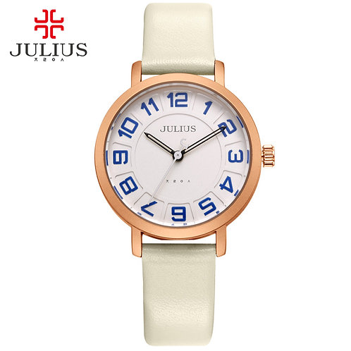 JULIUS Alibaba Express Ladies Watches Women Dress Ultra Thin Cheap Promotion
