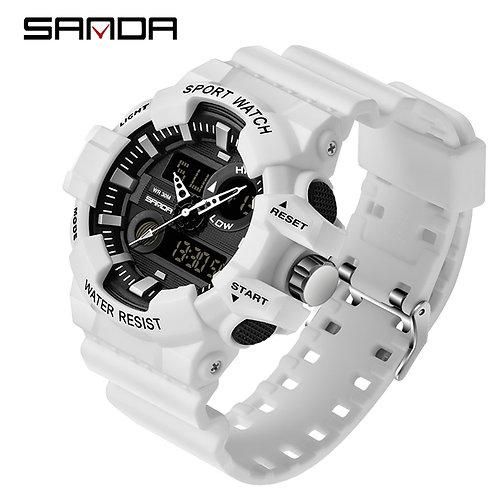 SANDA Sports Men's Watches Luxury LED Digital Military Quartz Watch Men