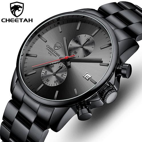 CHEETAH Watch Fashion Quartz Sport Wristwatches Luxury Stainless Steel Mens