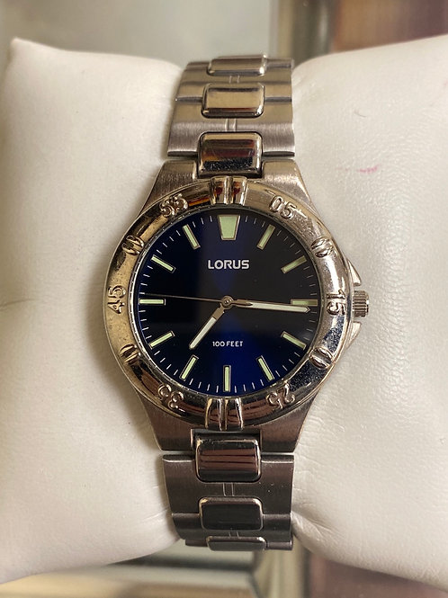 Lorus Sport Style Steel Blue Dial Luminous Hands Analog Quartz Watch