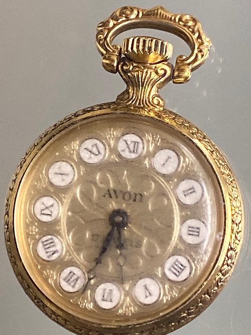 Avon 17 Jewels Mechanical Small Pocketwatch Vintage
