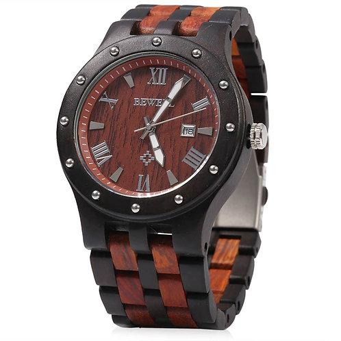 Bewell Luxury Brand Waterproof Wood Watch Men Quartz Watches Wooden Band