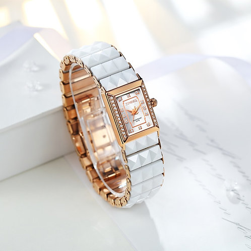 Time100 Luxury Women's Ceramic Watches Quartz Watch Diamond Dial Ladies