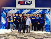 Rolando agora inauguração da Loja Tim Re