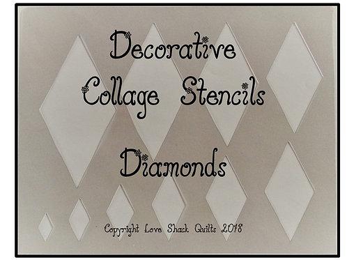 Decorative Collage Quilting Stencils Geometric Set