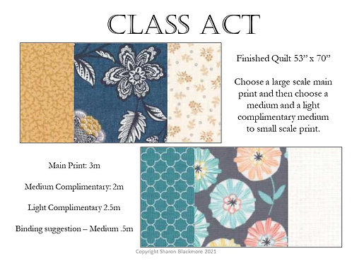 Class Act Mystery Quilt