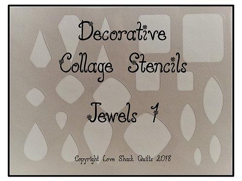 Decorative Collage Quilting Stencils Eccentrics Set